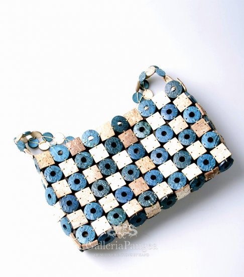 Coconut Handbag, 'Blue Checker'