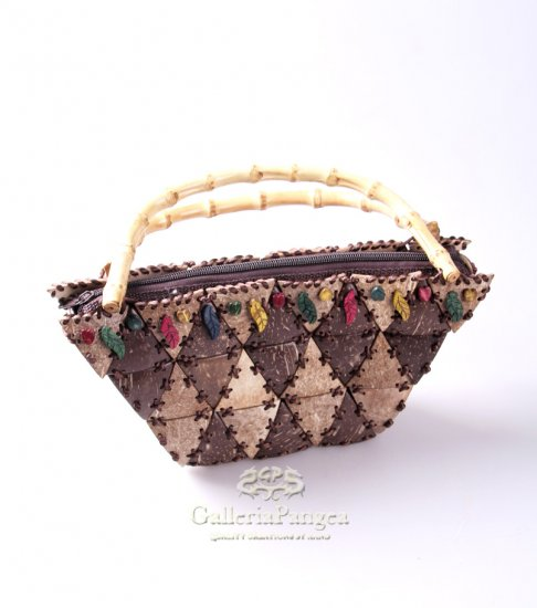 Unique Handbag, 'Coconut Triangle'