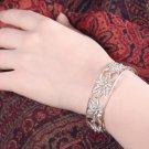 Silver Bracelet, 'Flourishing Spring'