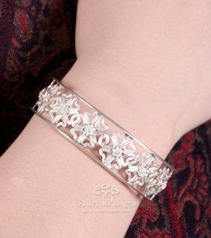 Silver Bracelet, 'Snow Flake'