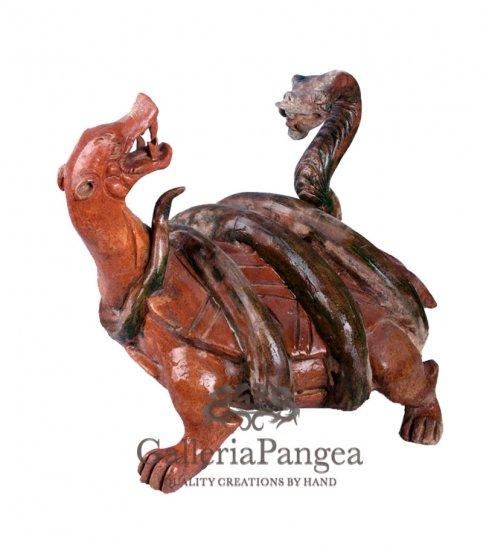 Pottery Statue, 'Black Tortoise'