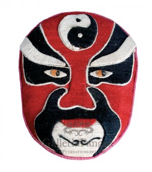 Beijing Opera Flax Mask, 'Jiang Wei'