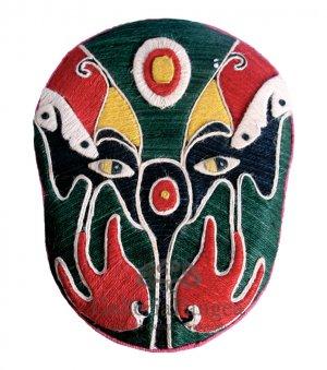 Beijing Opera Flax Mask, 'Big Eagle'