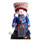 Wooden Doll, 'Miao Ethnic Girl With Headdress'