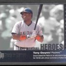 2002 UD Piece of History Tape Measure Heroes #TM12 TONY GWYNN