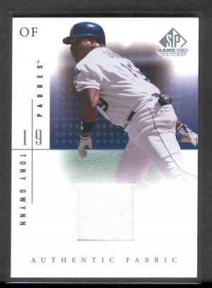 2001 SP Game-Used Edition Authentic Fabric #TGw TONY GWYNN (White Swatch)