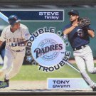 1998 Ultra Double Trouble #12DT TONY GWYNN & Steve Finley
