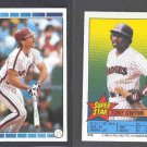 1989 O-Pee-Chee Sticker Backs #50 TONY GWYNN w/ #120 Mike Schmidt