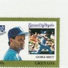 1988 Grenada Baseball Stamps #55 GEORGE BRETT