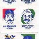 1986 Topps Tattoos #5 of 24 Full Sheet STEVE GARVEY OZZIE GUILLEN