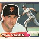 1988 Topps Big #9 Will Clark GIANTS