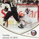 2010 Pittsburgh Penguins vs NY Islanders Full Ticket Stub Bill Guerin