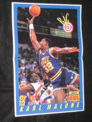 1989 SI for Kids Poster BIG SHOT Karl Malone UTAH JAZZ