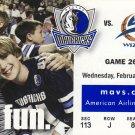 2/15/06 Dallas Mavericks vs Washington Wizards Ticket Stub