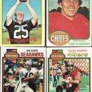 11 - 1970s Card Lot Football Stars & Rookie
