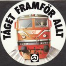 New SJ Train Taget Framfor Allt Railway Locomotive Round Sticker