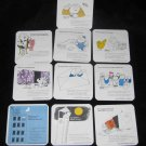 10 Coasters The C&O / B&O Railroads Game Pieces Advertising Comic Cards