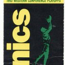1993 Seattle Sonics Western Conference Playoffs Ticket Stub
