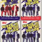 4 - 1989 NEW KIDS ON THE BLOCK Series 1 WAX PACKS NKOTB