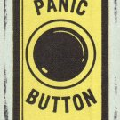 "Vintage Westline PANIC BUTTON Fabric Decal Sticker 2"" x 3"" E-Z Code NEW"