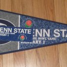 2009 Penn State Rose Bowl Game Fan Pack Pennant Sticker Button NEW Joe Paterno