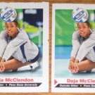 2- DEJA MCCLENDON 2011 SI for Kids Penn State Volleyball Cards RC