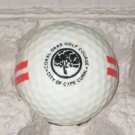 Coral Oaks Golf Course Dual  Logo Range Golf Ball City of Cape Coral