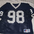 Russell Penn State Football Game Issued Blue Jersey #98 Dave Thomas 1991-1992
