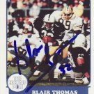 1988 Second Mile BLAIR THOMAS Autographed Penn State Trading Card