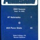 2002 Penn State vs Nebraska Football Game DVD 40-7 Paterno LJ