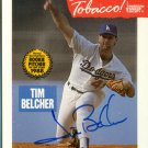 Tim Belcher Autographed American Cancer Society Baseball Card Strike Out Tobacco