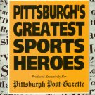 PITTSBURGHS GREATEST SPORTS HEROES VHS PPG ISSUE ONLY