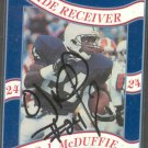 1992 Second Mile O.J. McDuffie Signed Penn State Trading Card