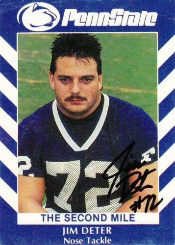 1990 Second Mile Jim Deter Signed Penn State Trading Card