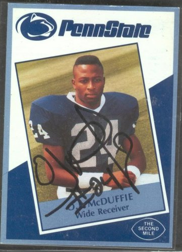 1991 Second Mile O.J. McDuffie Signed Penn State Trading Card