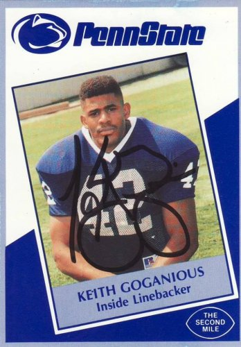 1991 Second Mile Keith Goganious Signed Penn State Trading Card
