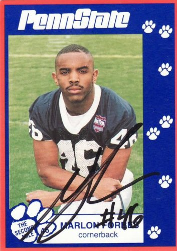 1993 Second Mile Marlon Forbes Signed Autographed Penn State Trading Card