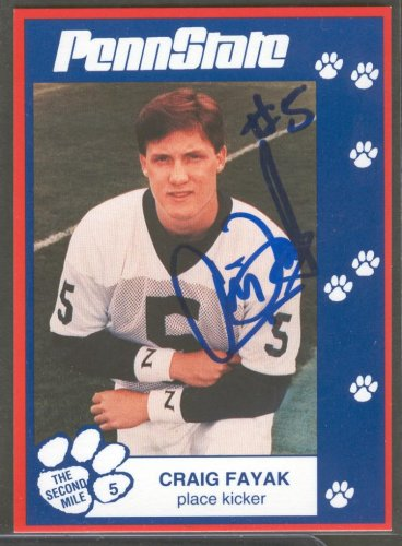 1993 Second Mile Craig Fayak Signed Autographed Penn State Trading Card