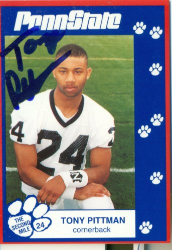 1993 Second Mile Tony Pittman Signed Autographed Penn State Trading Card