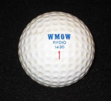 Vintage WMGW Radio 1490 Radio Logo Golf Ball Meadville, PA