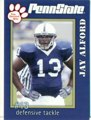 2005 Penn State Second Mile Football Card Jay Alford