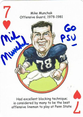 Mike Munchak Penn State Sports Heroes Poker Deck Autographed Card COA Tri-Star
