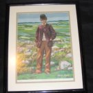 WIllie Dow Golf Print by Artist Thomas Ryan Limited Ed /2000 Framed and Matted