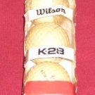 Vintage WILSON K28 Golf Ball Sleeve #4 Balls 3 Ball Sleeve