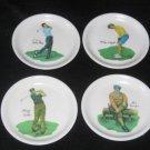 4- Wilson Golf Malamine Plates Mickey Wright, Gene Sarazan, Dave Marr, Archer