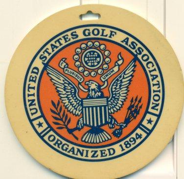 1977-78 USGA Associate Golf Bag Tag Unites States Golf Association