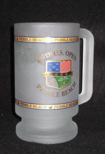2000 100th US Open Pebble Beach Golf Links Frosted Collector Beer Mug Glass TW