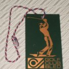 Golf Club Bled ROYAL BLED JUGOSLAVIJA Golf Bag Tag Yugoslavia Golf Course 1983