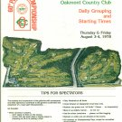 60th PGA Championship Daily Grouping & Starting Times Brochure Golf Oakmont CC