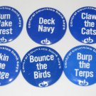 Lot of 6 1974 Penn State Football Bank Buttons CCB Central Counties Bank No Dupes